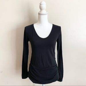 Isabel Maternity Black Long Sleeve T-Shirt